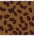 Vintage seamless background with coffee beans vector image