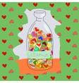 vitamins love vector image