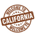 welcome to california vector image vector image