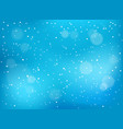 winter snowfall background vector image vector image