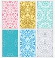 set of decorative patterns vector image