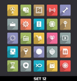 Trendy Icons With Long Shadow Set 12 vector image