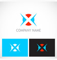 letter x round game logo vector image