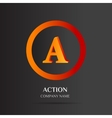 A Letter logo abstract design vector image