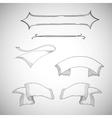 Vintage ribbons decorative design element vector image