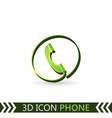 3d icon telephone vector image vector image