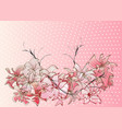 abstract cherry blossoms vector image vector image