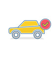 auto icon car ok sign traffic transport vehicle vector image vector image