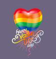 balloon heart holiday vector image