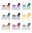 bar stool icon in black style isolated on white vector image vector image