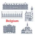 belgium travel landmark architecture liege palace vector image vector image