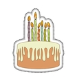 birthday cake icon image vector image