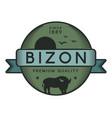 bizon logo template vector image vector image