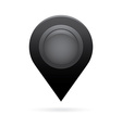 black map pointer icon marker gps location flag vector image vector image