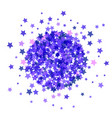 blue star burst isolated vector image vector image