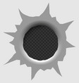 bullet hole isolated vector image vector image