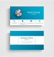 business card in white blue color and strips vector image vector image