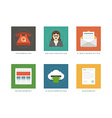 Business flat design icons vector image vector image