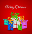 Christmas gifts card vector image