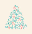 christmas icons background vector image vector image