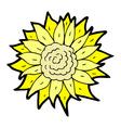 comic cartoon sunflower vector image vector image