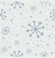cute winter seamless pattern with snowflakes vector image vector image