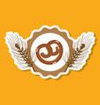 delicious pretzel bread of wheat vector image vector image