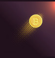 digital internet currency bitcoin background vector image vector image