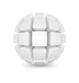 Divided white sphere vector image vector image