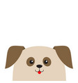 dog puppy head looking up cute cartoon character vector image