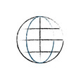 figure global symbol to data center connection vector image vector image