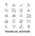 financial advisor planning advisor planner vector image