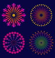 fireworks set of icons vector image
