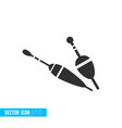 fishing floats icon in silhouette flat style vector image