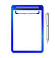 folder with clip and pen vector image vector image