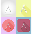 garden tools flat icons 13 vector image vector image