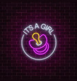 glowing neon sign with congratulations on the vector image vector image