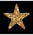 Golden glitter star geometric Modern style vector image vector image