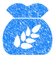 grain harvest sack grunge icon vector image vector image