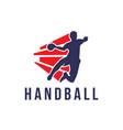 handball sign vector image vector image