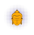 Head of Buddha icon comics style vector image vector image