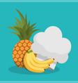 Healthy food menu cooking kitchen vector image