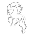 image of an horse on white background vector image vector image