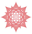 Indian culture inspired flower shape made out of vector image vector image