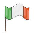 ireland flag symbol vector image vector image