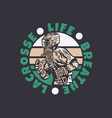 logo design life breathe lacrosse with man vector image vector image