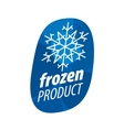 logo for frozen products vector image vector image
