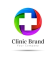 Medicine idea logo template Creative vector image vector image