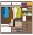 Men cloths wardrobe vector image vector image