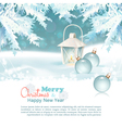 Merry Christmas New Year Celebration Background vector image vector image